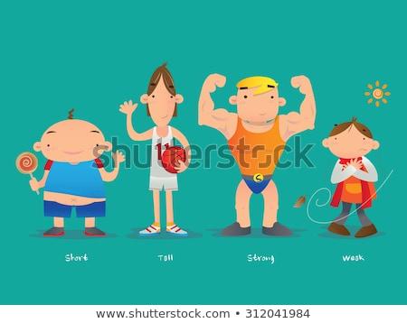 Porównanie chłopca ciało ilustracja człowiek sportu Zdjęcia stock © bluering