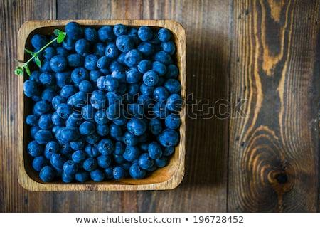 fraîches · bleuets · vintage · plaque · table · alimentaire - photo stock © melnyk