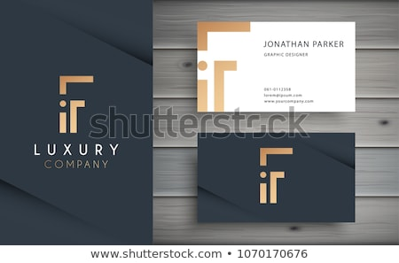 elegant premium golden business card template stock photo © sarts
