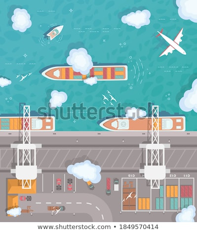 Shipping and transportation banner Stock photo © Genestro