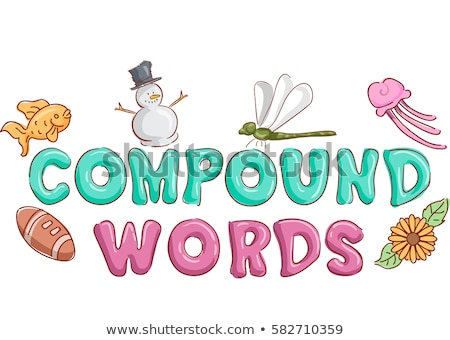 Woorden typografie illustratie ingericht zonnebloem Stockfoto © lenm