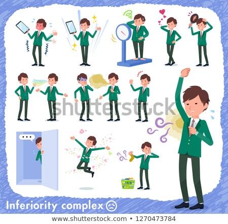 school boy Green Blazer_complex Stock photo © toyotoyo
