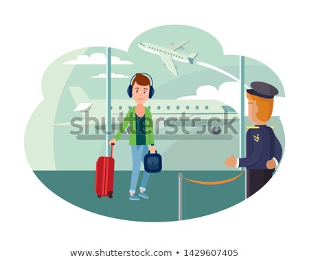 guy refugee at airport wants to leave country stock photo © robuart