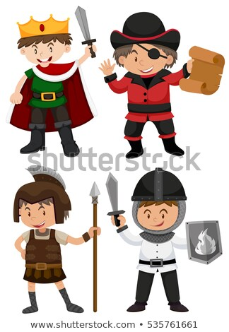 Young boy dressed as medieval pirate Stock photo © acidgrey