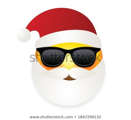 Święty mikołaj wyraz twarzy biały ilustracja szczęśliwy sztuki Zdjęcia stock © bluering