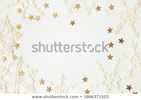 Сток-фото: Рождества · звезды · веселый · золото