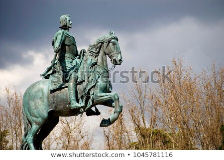 Monument of Felipe IV in Madrid Stock photo © boggy