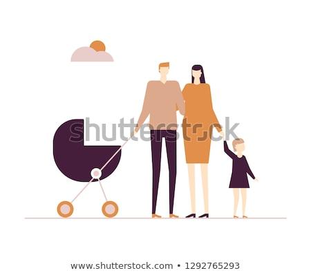 Cute couple - modern flat design style illustration Stock photo © Decorwithme