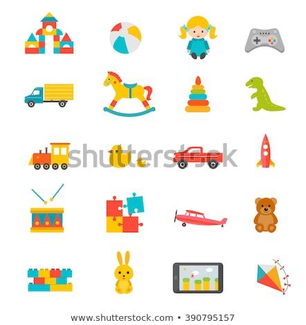 Crianças brinquedos conjunto colorido isolado vetor Foto stock © robuart