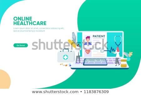 telefoon · man · stethoscoop · mobiele · telefoon · nek - stockfoto © genestro