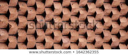 Stockfoto: Vintage Red Brick Wall Texture The Old Red Brick Wall
