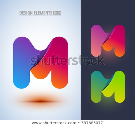 Zöld logotípus m betű vektor logo felirat Stock fotó © blaskorizov