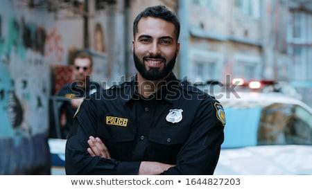 polícia · carro · isolado · branco · abstrato · lei - foto stock © colematt