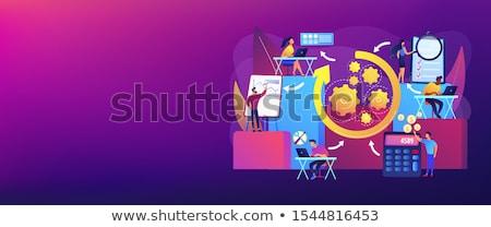 Burza mózgów banner człowiek pracy laptop Zdjęcia stock © RAStudio