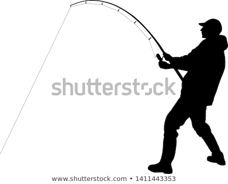 Fisherman with Fisher-rod Vector Illustration Stock photo © robuart