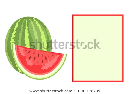 Watermelon Citron Melon Berry Ripe Tropical Poster Stock photo © robuart