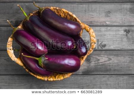 Basket melanzane illustrazione sfondo foto contenitore Foto d'archivio © colematt