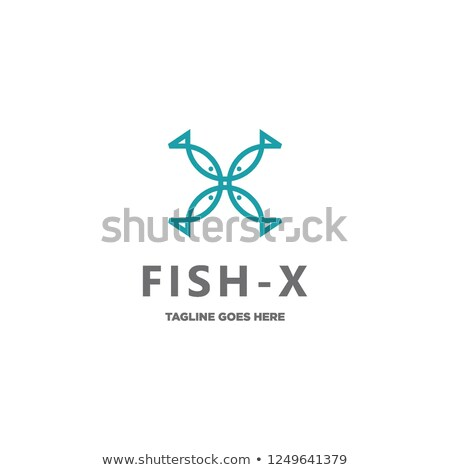 fish letter x logo symbol vector stock photo © blaskorizov