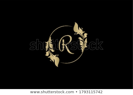 green black letter r icon sign logo logotype Stock photo © blaskorizov