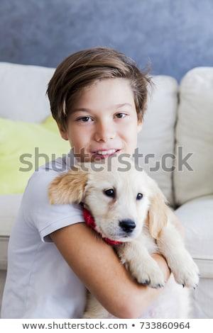 子犬 · 幸せ · ペット · 子 - ストックフォト © boggy