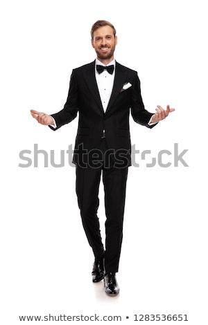 Atraente empresário para a frente mãos gesto branco Foto stock © feedough