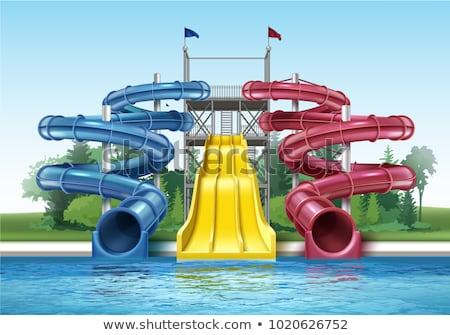 colorful water slides at the water park stock photo © galitskaya