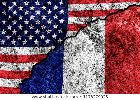 Two waving flags of United States and france Stock photo © MikhailMishchenko