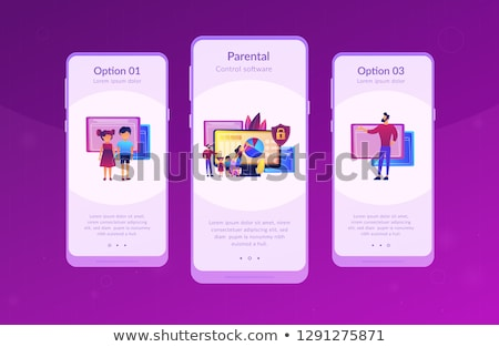 Parental control software app interface template. Stock photo © RAStudio