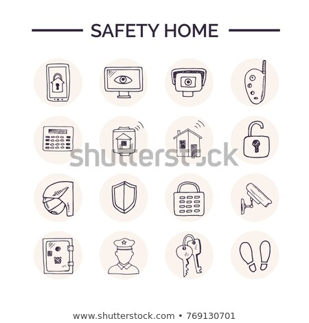пожарная · тревога · изолированный · белый · фон · металл · безопасности - Сток-фото © rastudio