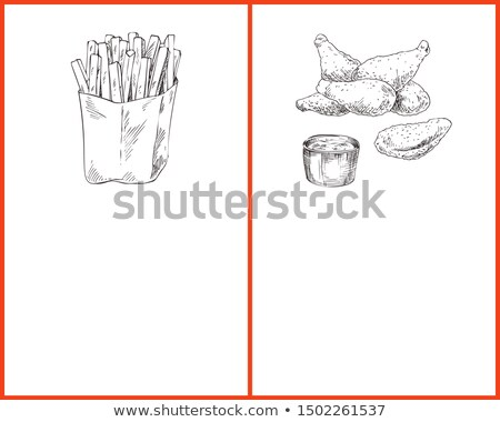 French Fries and Chicken Naggets with Sauce Poster Stock photo © robuart