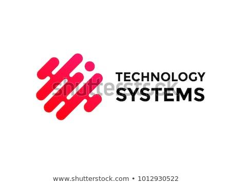 Tech logo icon symbool abstract business Stockfoto © blaskorizov