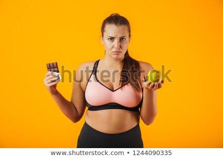 Immagine sovrappeso donna Foto d'archivio © deandrobot