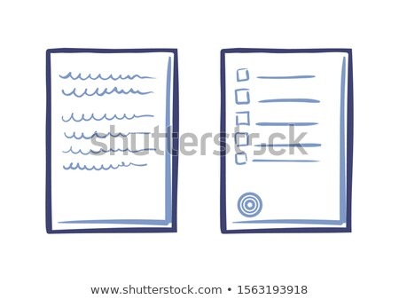 Tips or List on Sheet of Paper Contract Text Stamp Stock photo © robuart
