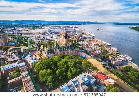 hotel · Quebec · stad · Canada · Blauw · zomer - stockfoto © lopolo