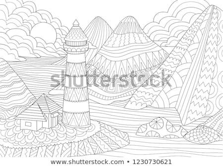 Utazó szín skicc izometrikus minta eps Stock fotó © netkov1