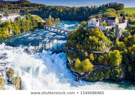 водопада Швейцария панорамный мнение пейзаж рок Сток-фото © unkreatives