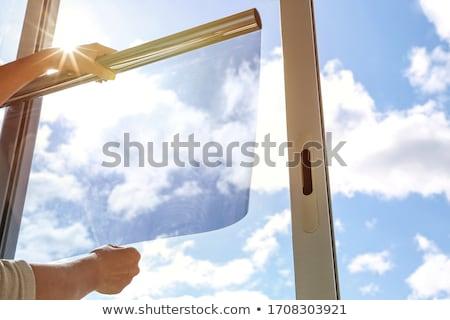 ウィンドウ 光 装飾的な キャンドル 淡い ストックフォト © jsnover