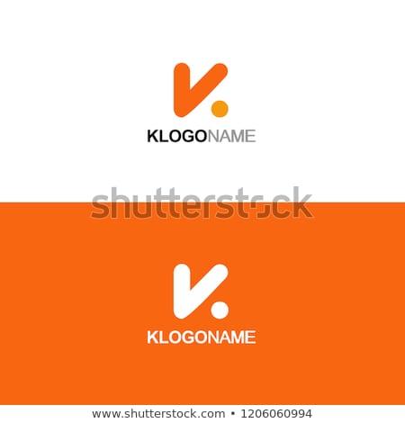 Letter K Logo. K Letter Design Vector Stock photo © twindesigner