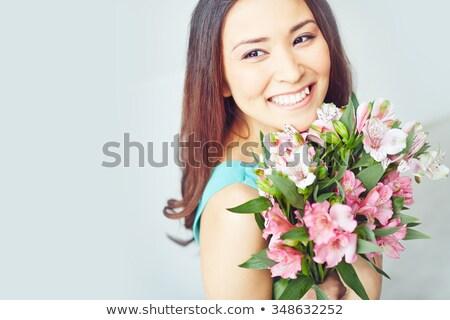 アジア 女性 花束 花 花屋 少女 ストックフォト © artfotodima