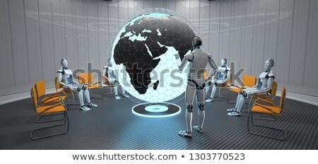 Robots Globe India Stock photo © limbi007