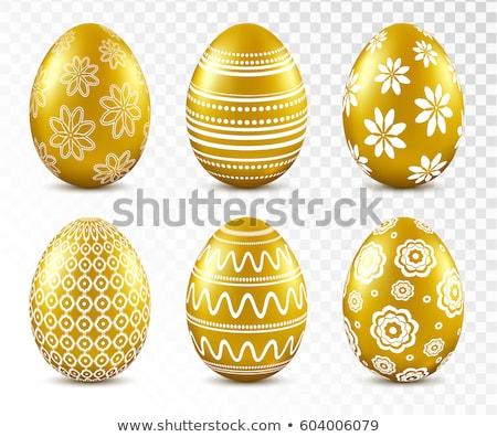 Stok fotoğraf: şeffaf · easter · egg · çiçek · lüks · 3D · altın