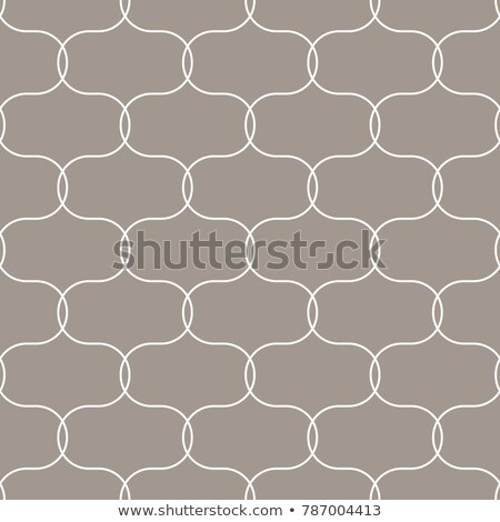 Quatrefoil oval taupe seamless vector pattern. stock photo © yopixart