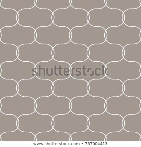 Quatrefoil oval taupe seamless vector pattern. Stock photo © yopixart
