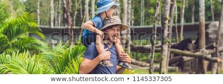 kochający · ojciec · młodych · syn · młody · chłopak - zdjęcia stock © galitskaya