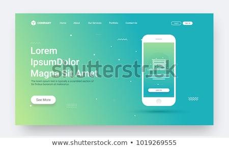 Contact centrum app interface sjabloon werken Stockfoto © RAStudio