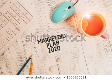 цифровой · маркетинга · плакат · текста · образец · стороны - Сток-фото © robuart