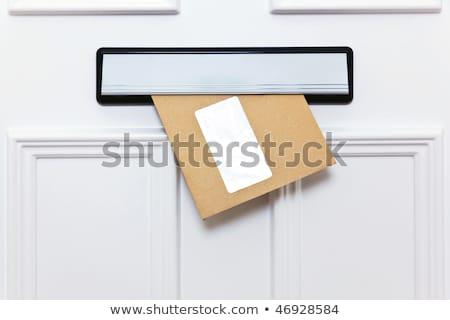 lettere · due · fuori · bianco · porta · spazio - foto d'archivio © zerbor