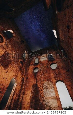 Stars over the old Lithgow ruins Stock photo © lovleah