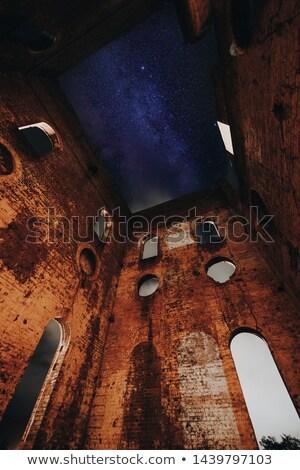 Estrelas velho ruínas fogão nuvens Foto stock © lovleah