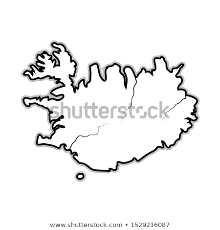 World Map of ICELAND: Iceland, Scandinavia, North Europe, Atlantic Ocean. Geographic chart. Stock photo © Glasaigh